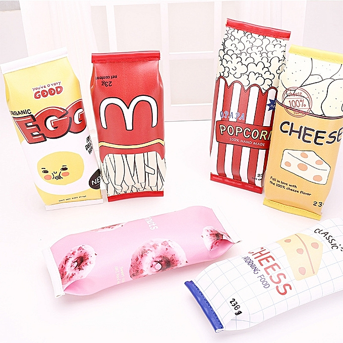 UNIVERSAL WAM PC-CB02 Girls Boy Pencil Case Snack Cookie Pencil Bag Stationery Office School Pen Bag à prix pas cher