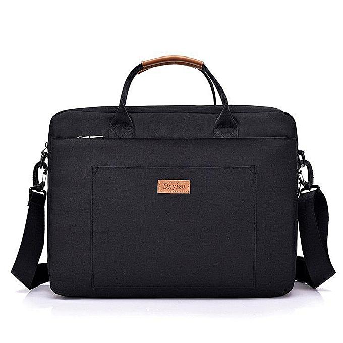 Other 2018 nouveau femmes Hommes toile Briefcase 16 inch Laptop Shoulder sac For  Male Handsac Affaires Computer sac voyage grand Tote(noir) à prix pas cher