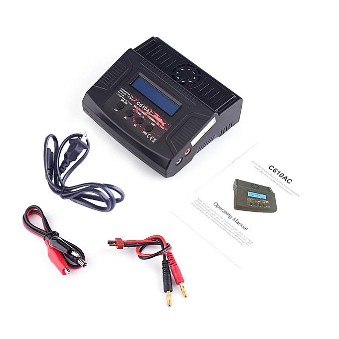 Generic Ta C610ACProfessional Balance Charger for 2S 3S LiPo 2S LiFe 1-8S NiMH Battery-noir à prix pas cher