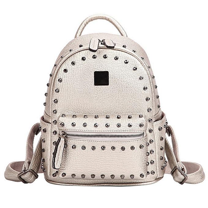 Fashion Gradosoo Punk Style Rivet Backpack Female Famous Brand Wohommes Backpack PU Leather Shoulder School Bag Bagpack For Girls LBF203 à prix pas cher