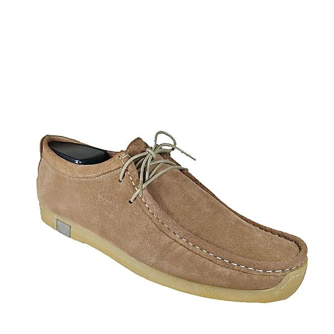 meilleur service d92a3 9a730 Chaussures bateau 100% Daim naturel -Cannelle