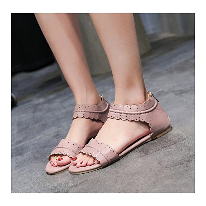 UNIVERSAL Wohommes Flat Heels Rohomme Sandals Classic Ankle Flower chaussures à prix pas cher