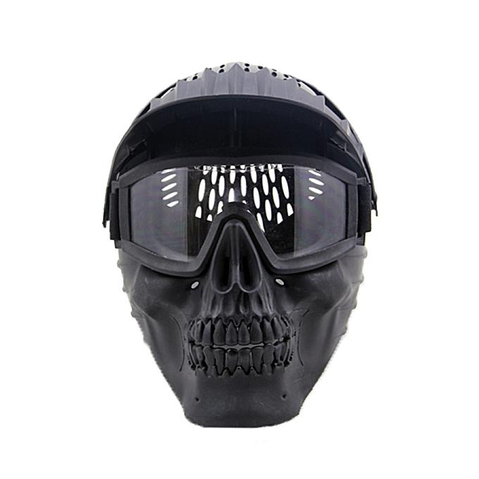mode Masque de crâne HalFaibleeen W   lunettes pour les militaires CS Airsoft Jeu de guerre de crâne Paintball à prix pas cher