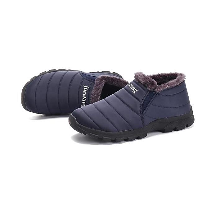 Fashion Fashion  Boots-EU  Stripe Soft Warm Plush Lining Ankle Winter Boots-EU  à prix pas cher  | Jumia Maroc 8af296
