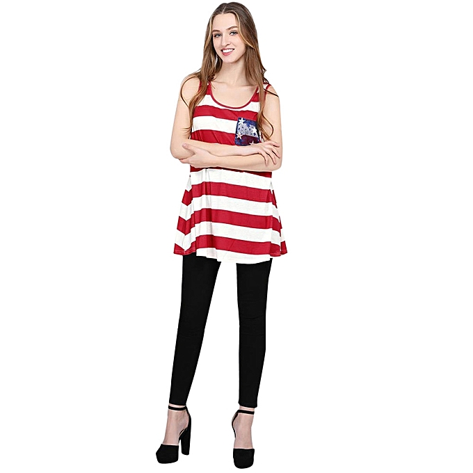 Generic Generic  &Me Lady Mother chemisier 4th Of July Family hauts Stars rayé T-Shirt Clothes A1 à prix pas cher