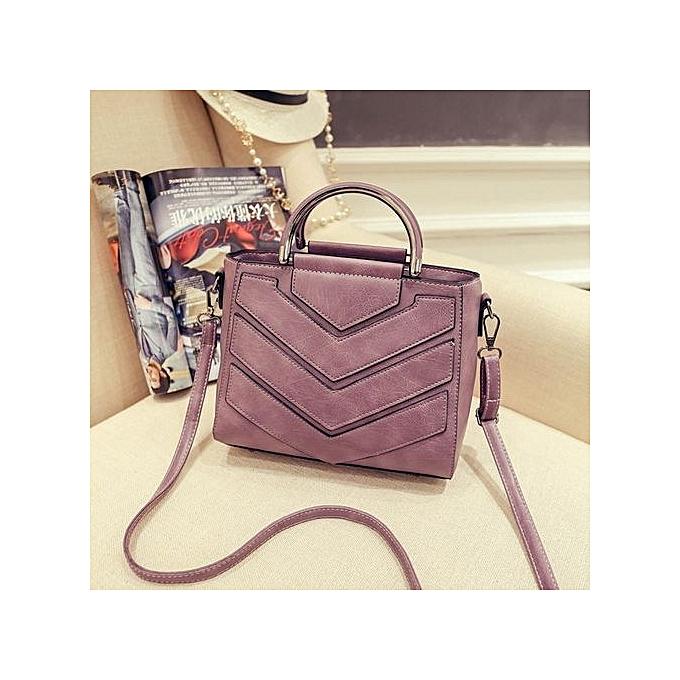 Siketu femmes Casual Vintage Geometric Bags Hotsale Handbag Shoulder Bag PP- violet à prix pas cher
