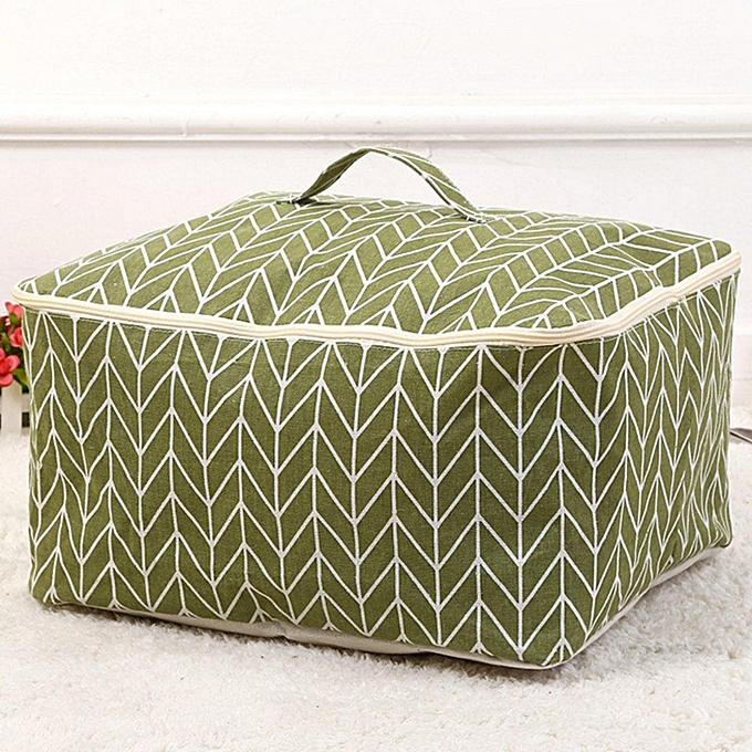 Fashion Storage Bag Sundries Organizer Hanger Cotton Bag Holder Cover New   vert à prix pas cher