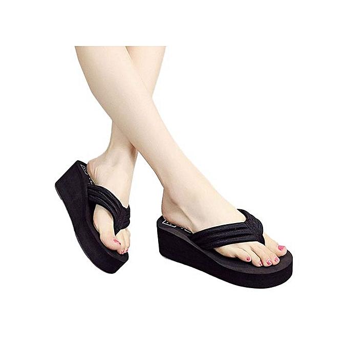 mode Hiamok_femmes  Flip Flops Slippers plage Sandals été Home chaussures à prix pas cher