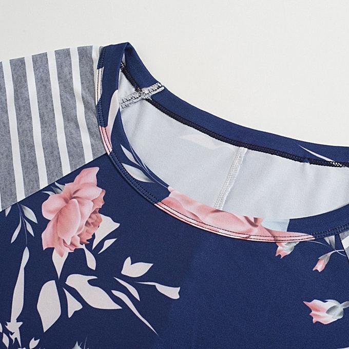 Fashion quanxinhshang femmes Long Sleeve Floral Print Dress Ladies Beach Party Dresses BUL à prix pas cher