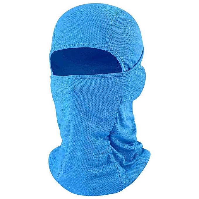 Autre Motorcycle Balaclava Full Face Mask Warmer Windproof Breathable Airsoft Paintball Cycling Ski Shield Anti UV Men Sun Hats Helmet( Sky bleu) à prix pas cher