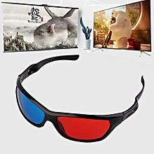 9d067bf0f Black Frame Red Blue 3D Glasses For Dimensional Anaglyph Movie Game DVD