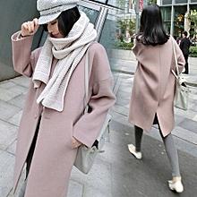 c6b71b42575 Automne Hiver À La Mode Femmes Dame Longue Manteau Manteau En Laine