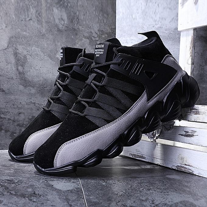Fashion Mens Basketball Ankle bottes Shock Absorbing Breathable Non-slip High Top baskets à prix pas cher