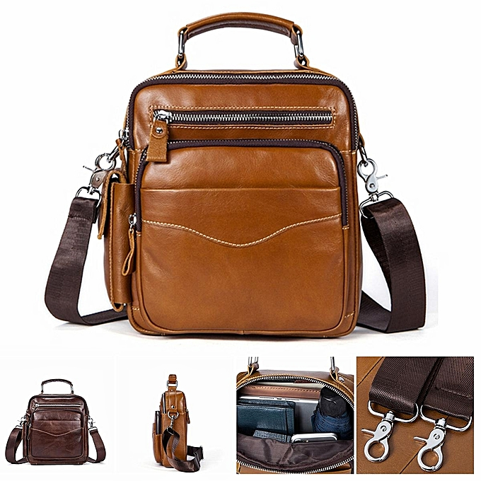 UNIVERSAL Leather Messenger Bag Men's Bag Shoulder Bag Men's Bag Head Layer Leather vertical Business Casual Small Backpack à prix pas cher