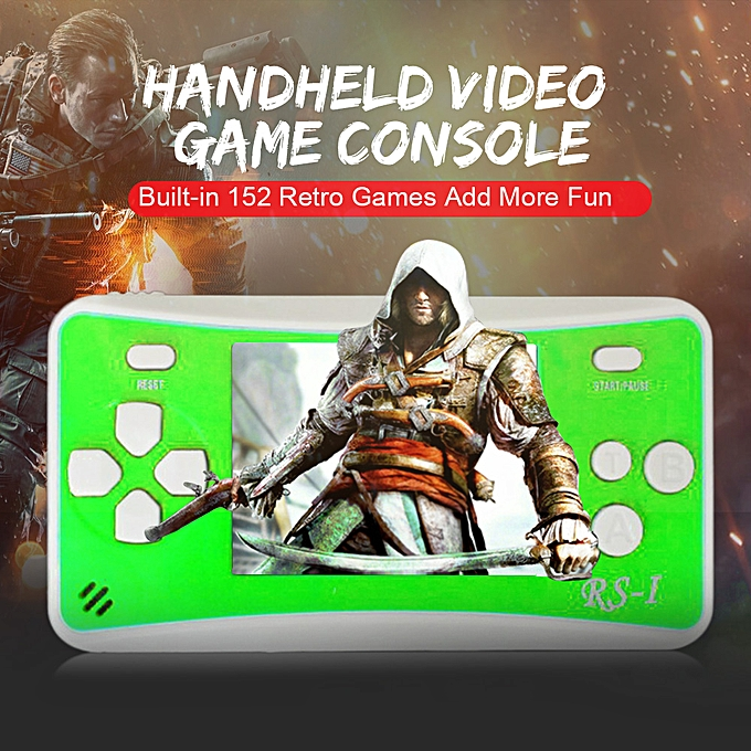 Autre portable Video Game Console 8 Bit Retro Handheld Game Player Built-in 152 Classic Games - vert à prix pas cher