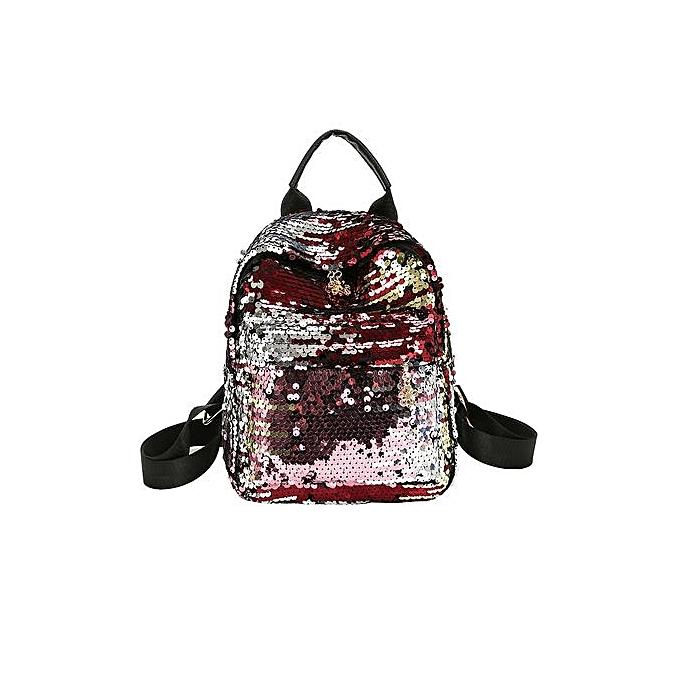 mode Xiuxingzi Wohommes Shinning Glitter Bling sac à dos Preppy Style Sequins voyage Satchel à prix pas cher