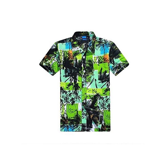 Fashion Chemise Manches Courtes Pour Homme - vert à prix pas cher