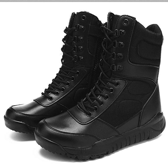 Fashion Fashion  's Outdoor Military Ankle Boots High High High Top Leather  Combat Non-slip Work Shoes-EU à prix pas cher    Jumia Maroc 2e31a8