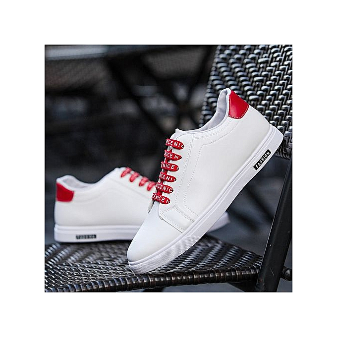 Generic New hommes chaussures hommes casual chaussures hommes Korean version of the trend chaussures youth chaussures breathable chaussures-rouge à prix pas cher