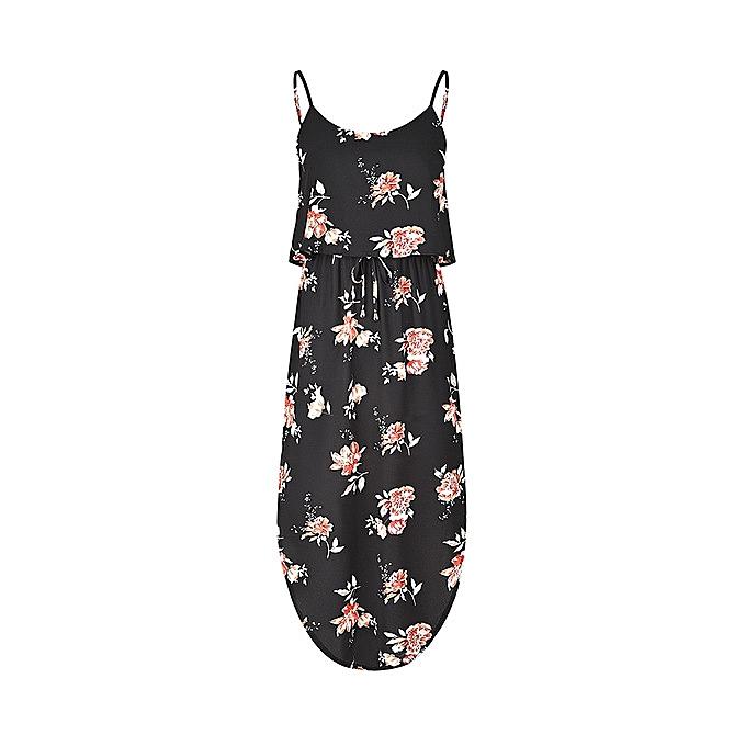 Generic Nice Wohommes Nice Printed Fashion Comfortable Lace-up Waist Dress-11 à prix pas cher