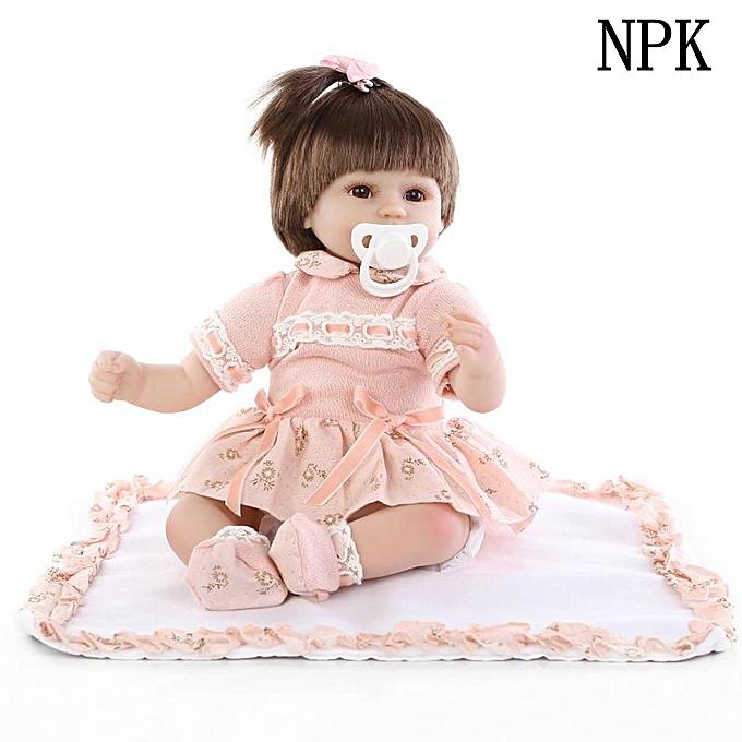 OEM Nicery Reborn Girl Doll Silicone Souple Vinyle Fait Main Réaliste Bébé Yeux Ouvert à prix pas cher