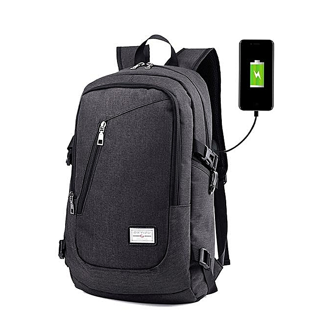 UNIVERSAL Men Multi-function Daily Rucksack 15 inch Laptop Backpack with USB Charging Port à prix pas cher