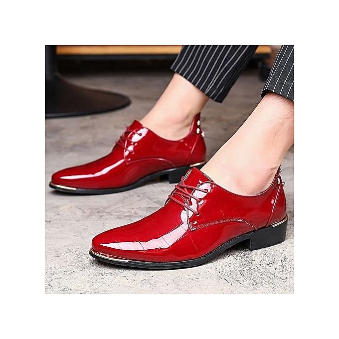 Fashion  's Point Toe Patent Patent Patent Leather Shoes UK Size : 6.5 To 10.5   à prix pas cher  | Jumia Maroc 20f4d3