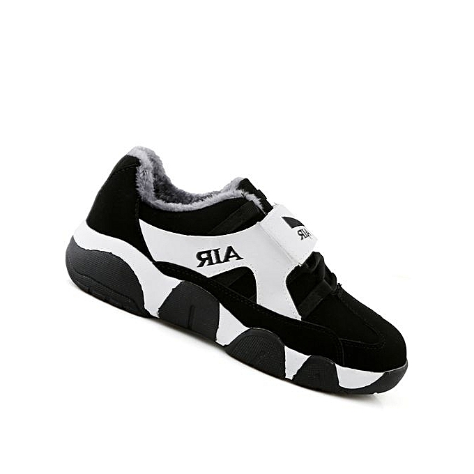 Fashion Couple Athletic Warm Cushion   Running Shoes Shoes Running Sport Outdoor Jogging Walking Sneakers-BLACK WHITE à prix pas cher  | Jumia Maroc 879a54