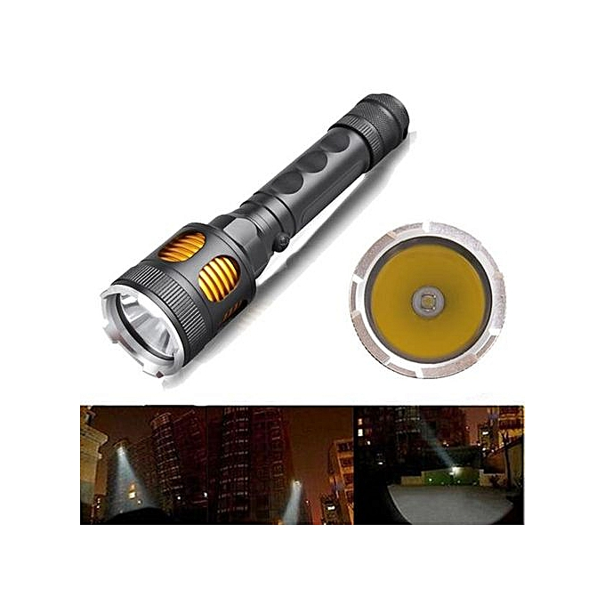 Generic Zoomable 3000lm XM-L T6 LED 18650 Flashlight Torch Lamp Light Water Resistant à prix pas cher