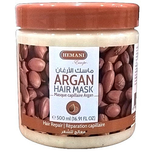 commandez hemani masque capillaire avec de l 39 huile d 39 argan de hemani cheveux tr s sec et ab m. Black Bedroom Furniture Sets. Home Design Ideas
