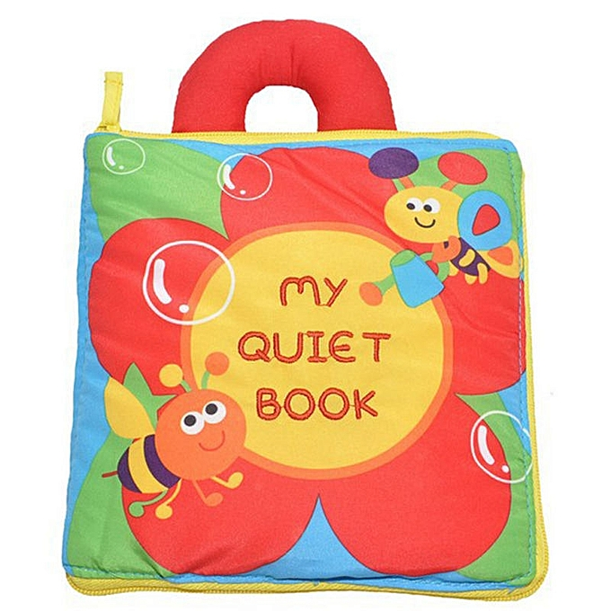 OEM New styleOEM Soft Baby Cloth Books Educational Newborn Quiet Book Learning Toys For Infant 0-12 Months (Flower) à prix pas cher