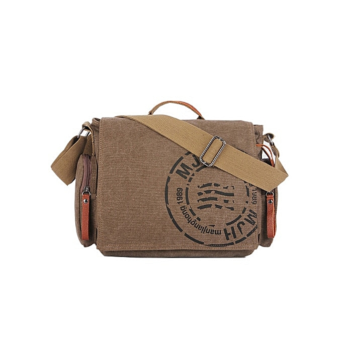 Other hommeJIANGHONG Vintage hommes Messenger bag homme Handbag Canvas Shoulder posthomme Bag Men casual Crossbody Printing Messenger bags(coffee) à prix pas cher