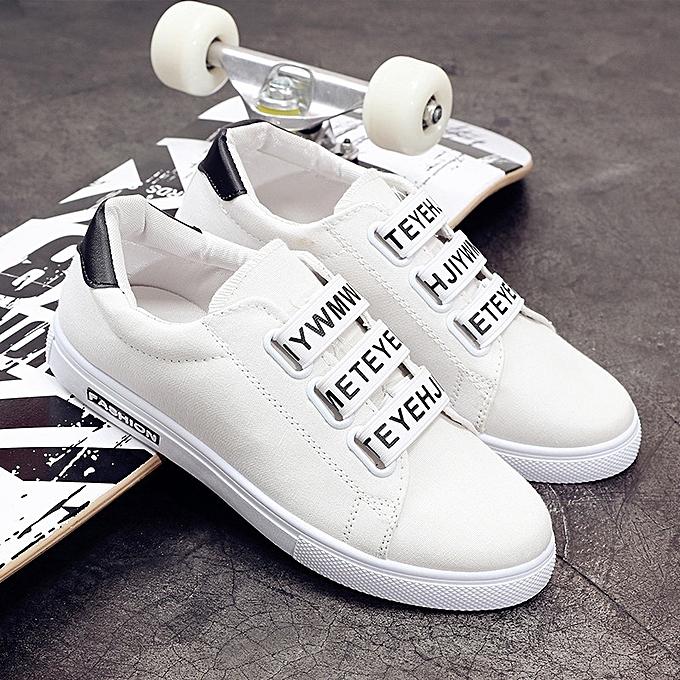 Other Summer New Korean Air-permeable Enhanced Men's Leisure chaussures-blanc à prix pas cher