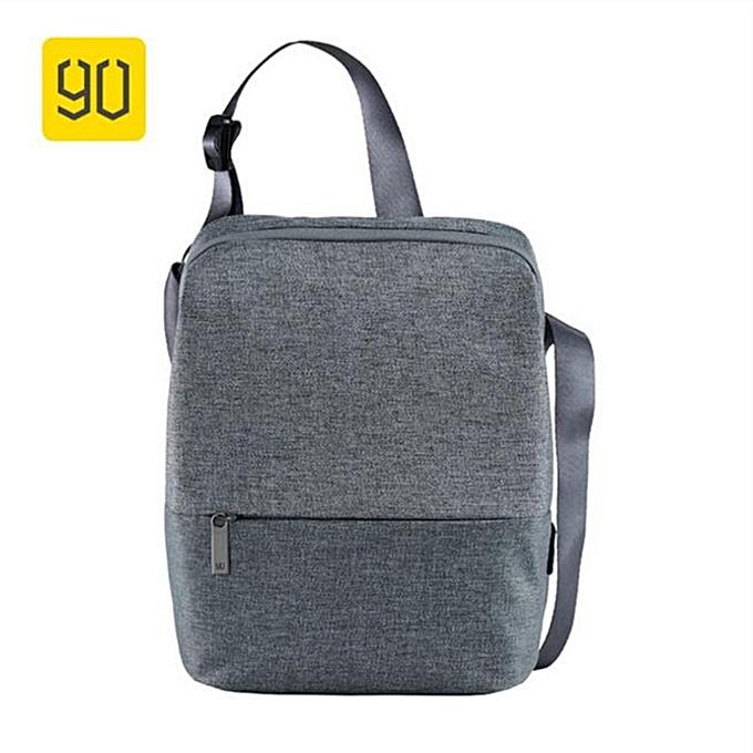 Other Xiaomi 90FUN Messenger sac Water Resistant bandoulière sacs For femmes Hommes Satchels School Affaires voyage Shoulder sac(Shoulder lumière gris) à prix pas cher