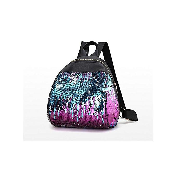 Fashion Tectores femmes Girl Backpack Travel Rucksack Shoulder Shiny Sequins School Bags PP à prix pas cher