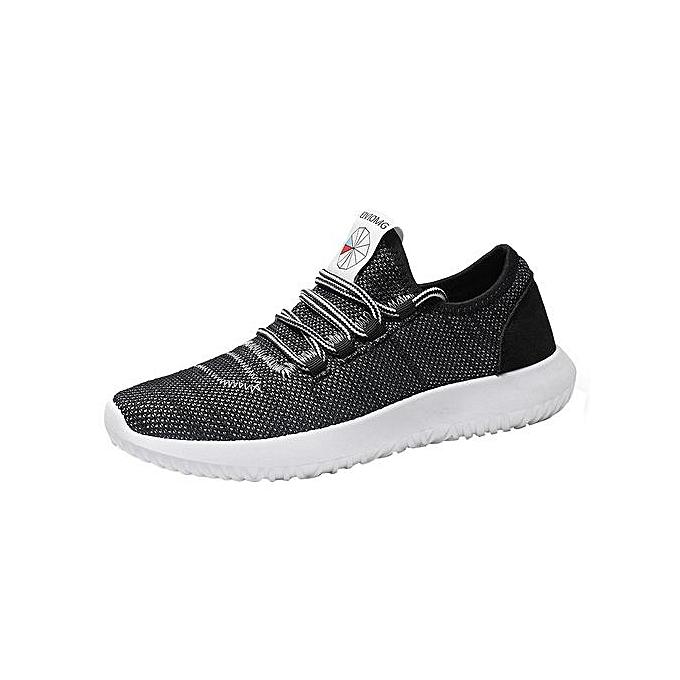 mode Jiahsyc Store Hommes engrener Round respirant  Flat paniers FonctionneHommest chaussures Décontracté chaussures-noir à prix pas cher