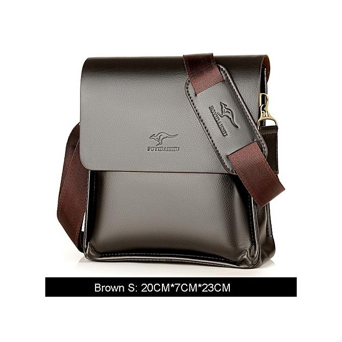 Other Hot    Brand High Quality cuir messenger sac,mode hommes shoulder sac Affaires Cross body sac Décontracté briefcase(marron S) à prix pas cher