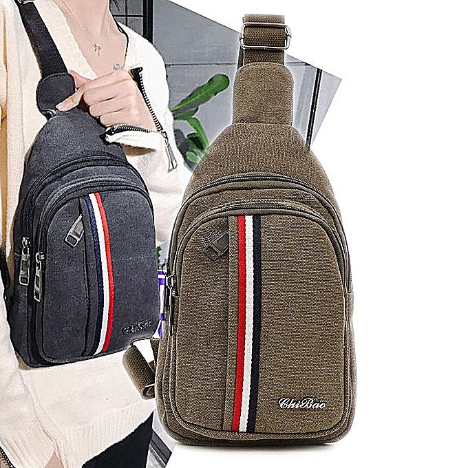 mode Vintage toile hommes Chest Pack Korean Edition Sports sac à dos Décontracté hommes Chest sac bandoulière sac Shoulder FFaible Pack à prix pas cher