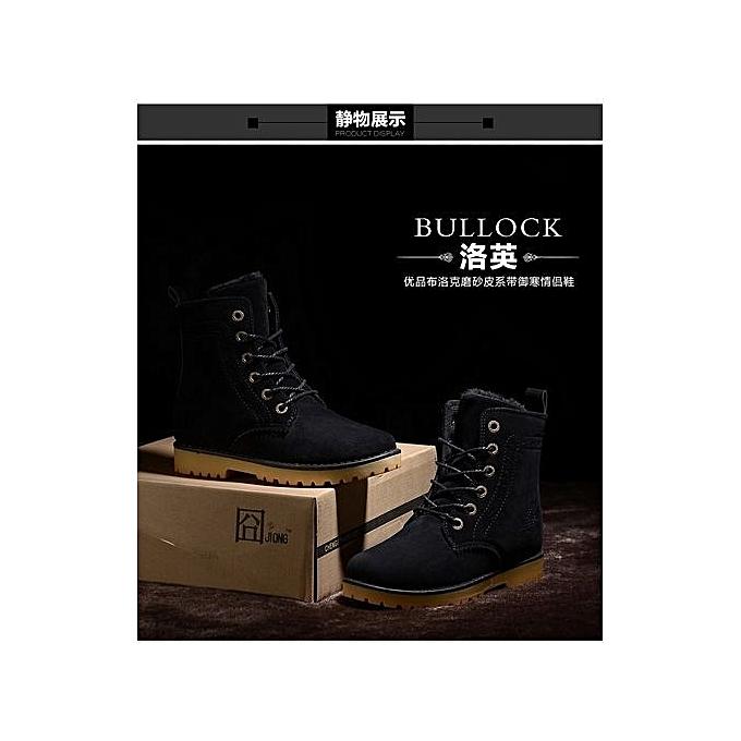 Générique Refined Winter Refined Snow Boots British  Couples Shoe Vintage  's WoHommes  British Shoes-Noir  à prix pas cher  | Jumia Maroc e0713e