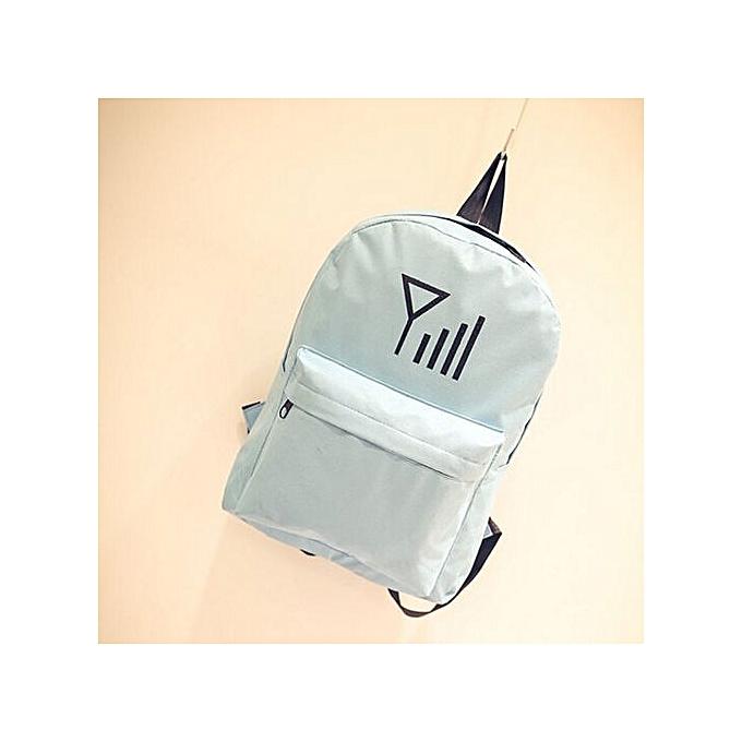 Fashion Correponde Men femmes Canvas Personalized Signal Printing Backpack Shoulder Bags à prix pas cher