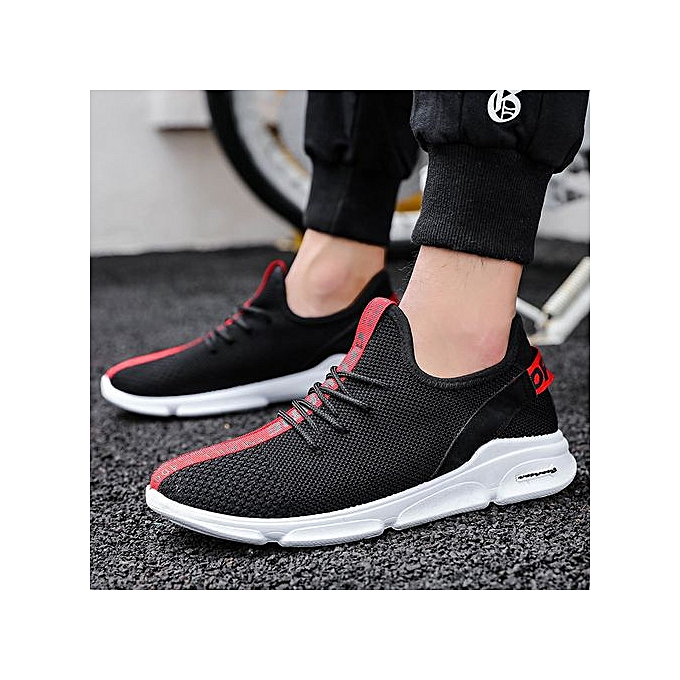Generic New hommes chaussures hommes casual chaussures Korean version of the trend of flying woven mesh chaussures breathable chaussures-rouge à prix pas cher
