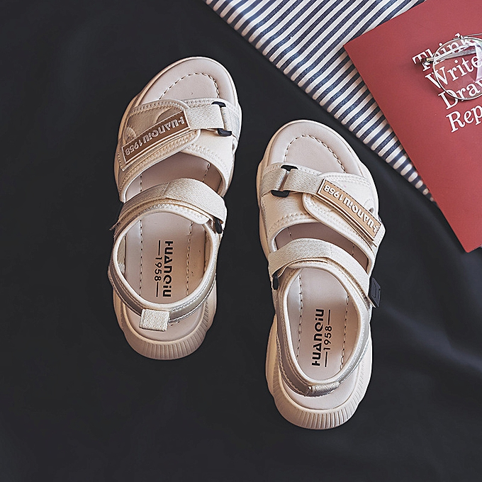 Fashion Sandals female summer student wild sports bear chaussures Beige à prix pas cher    Jumia Maroc