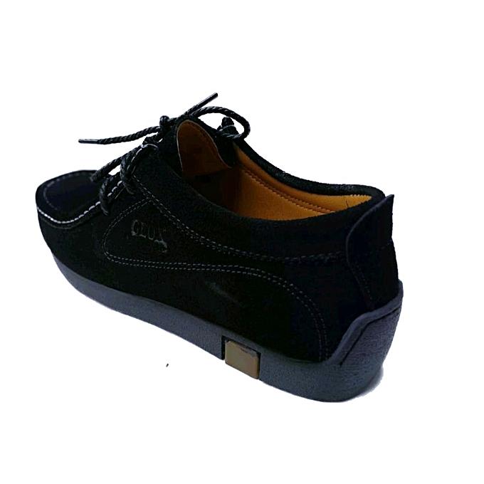 dc6cd2aee445 Geox Chaussures bateau 100% Daim naturel -Noir à prix pas cher ...