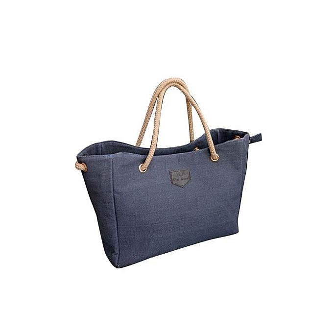bleuLife femmes Tote Bag Canvas Handbag Shoulder Bags - bleu à prix pas cher