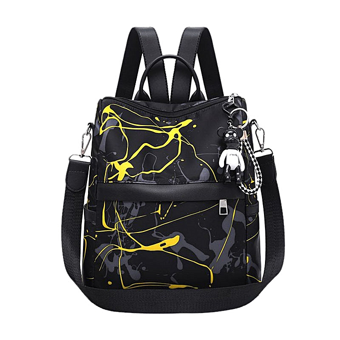 Fashion Graffiti Style femmes Backpack Youth Bag Large Simple Oxford Cloth Backpack à prix pas cher