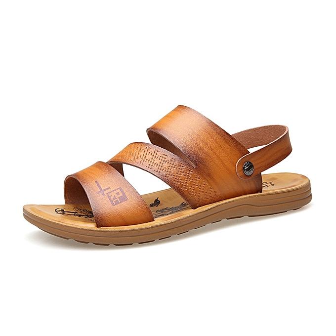 Fashion Men Soft Sole Two Way Wear Sandals Beach chaussures à prix pas cher