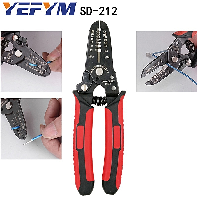 Other SD-212 cutter stripper pliers industrial grade wire stripper tools SK4 material blade wire stripping directly 0.6-2.6mm2 à prix pas cher