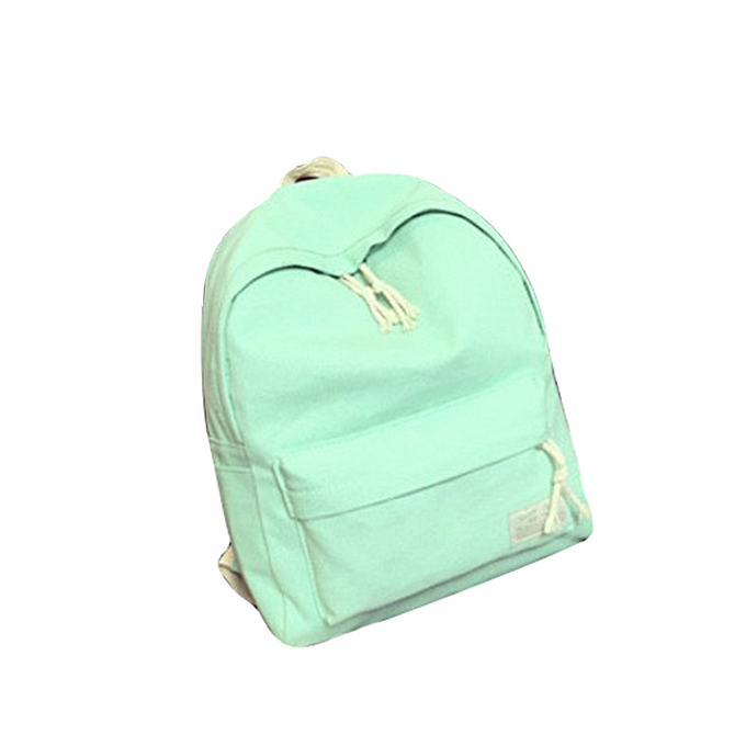 Fashion jiahsyc store Boys Girl Students Canvas College Wind Backpack Travel Bag Backpack GN-vert à prix pas cher