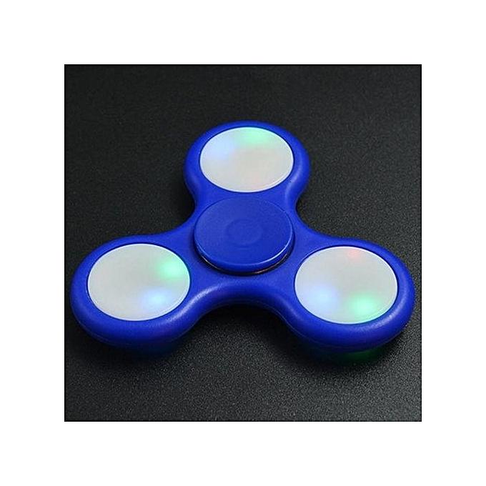 Generic Anti-Stress Toy Couleur Changing LED Fidget Finger Spinner à prix pas cher