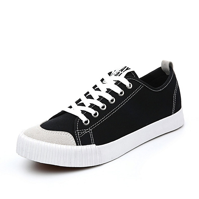 Other Wohommes Spring New Breathable Canvas Korean Leisure Couple chaussures-noir à prix pas cher    Jumia Maroc
